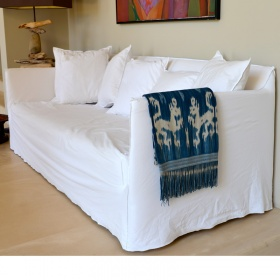 stylekraft berwurf sessel bogolan afrika handgefertigt indigoblau weiss. Black Bedroom Furniture Sets. Home Design Ideas
