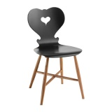 Anthrazit Side Chair Holzgestell mit alpinem Charakter