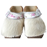 Holzschuhe mit Fell f�r Kinder - Clogs